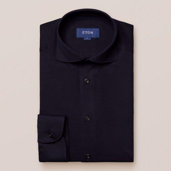 Eton Pique-S Skjorte